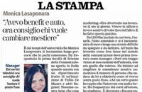 Avevo benefit e auto, ora consiglio chi vuole cambiare mestiere (La Stampa 03/03/2016)